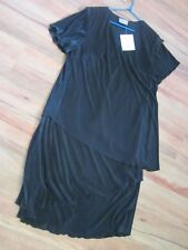 BEAUTIFUL NEW WITH TAGS[RRP79.95]  BLACK TIERED DRESS SIZE 12 BY EVE