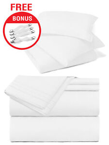 Twin XL Size Luxury 7 Piece Bed In a Bag 22 Colors With Bonus Bed Sheet Straps