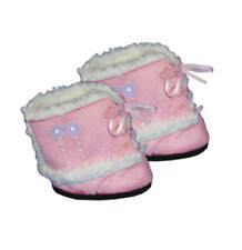 "Teddy Mountain Pink Furry Boots Fits all 14""-18"""