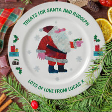 Personalised Very Hungry Caterpillar Treats For Santa 8″ Rimmed Plate Christmas