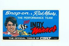 NEW Vintage Snap-on Tools Rick Mears INDY Tool Box Sticker Racing Decal SSX1276