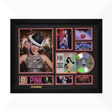 Pink P!NK Signed & Framed Memorabilia - 1CD - Black/Red Edition -  NEW