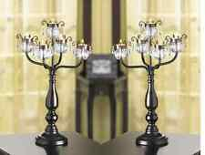 """8 BLACK 18"""" chandelier CANDELABRA Candle holder floral wedding table decoration"""