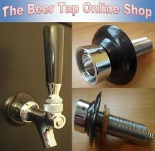 More details for beer tap creamer action beer faucet with shank - kegerator - home bar - homebrew