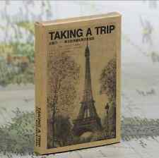 LOT 28 pcs Brown Paper Postcard Freehand Europe Travel View Sights Card Bulk Set