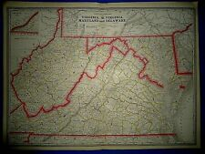1862 WV MAP MARION PENDLETON RITCHIE WYOMING COUNTY West Virginia History IT BIG