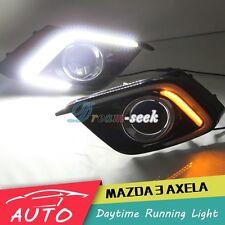 FOR MAZDA 3 AXELA 2014 2015 DRL LED DAYTIME RUNNING LIGHT FOG LAMP W TURN SIGNAL