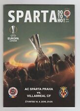 Orig.PRG   Europa League  2015/16    SPARTA PRAG - VILLARREAL CF  1/4 FINALE  !!
