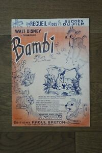 (MC1/B) Partition Walt Disney Bambi / Editions Raoul Breton