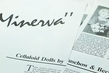 5 Page Article Celluloid Minerva Dolls Buschow & Beck Sept 1992 Doll Reader