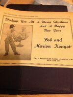 L1-2 Ephemera 1956 Advert Variety Artist Bob And Marion Konyot