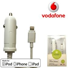 Vodafone Lightning Car Charger For Iphone 5 6 7 8 Quick Charging Heavy Duty Lead