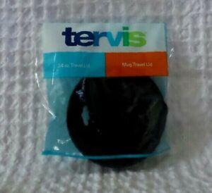 TERVIS Travel Lid Fits Mug & 24 oz Tumbler BLACK LID Insulated Drinkware NEW