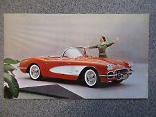 1958 Rare Excellent COMPLETE SET of 17 1958 Chevrolet CAR COLOR Postcards 1958