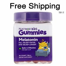 Natrol, Kids, Melatonin Gummies, Berry 90 Gummies Easy to Take Faster Absorption
