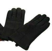 Lederhandschuhe Gefütterte Damen Handschuhe echtes Leder Braun S,M,L,XL