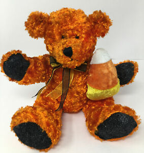 Dan Dee Collectors Choice Bear Orange Halloween Shiny Plush