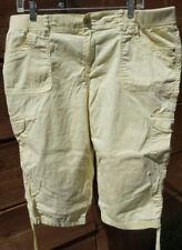 Gloria Vanderbilt Women's Lana Cargo Skimmer Pants Shorts Sz 16 Dandelion #B-2