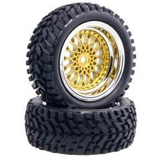 RC HSP 2082-7004 Wheel Offset:6mm&Rally Rubber Tires For 1:10 On-Road Rally Car