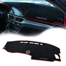 1pc Car Dashboard DashMat Sun Protector Pad w/Red Rim For 2018-2019 Honda Accord