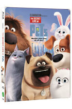The Secret Life Of Pets (2016, 2D + 3D, Blu-ray) Steelbook w/ PET Slip / Korean