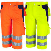 Qualitex Shorts Warnschutz Hose Bermuda Warnshort WorkwearWarnhose