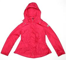Moncler Girls Pink Hooded Raincoat Sz 14 3446