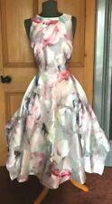 BNWT COAST Jacquard Fit & Flare High Low Midi Occasion Dress Size 12