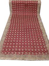 Om Vintage Dupatta Bridal Zardozi Work Maroon Scarves Veil Hijab AD-1108