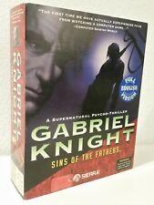 Gabriel Knight: Sins of the Fathers Cd-ROM Big box PC game 1993