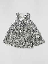 New Baby Girl Gap Black Tan Leopard Print Dress Size 18-24 Months