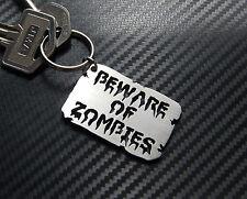 BEWARE OF ZOMBIES Undead Horror Walking Dead Keyring Keychain Key Fob