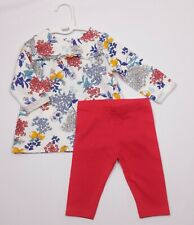 Baby Girls Clothes M&S Floral Dress & NEXT Leggings Outfit 0-3 Months NWoT