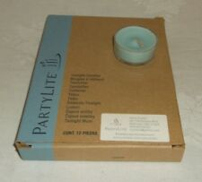 PartyLite V04143 Calm Waters Tealights Candles Box of 12 NEW NIB Free Ship