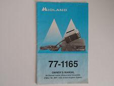 MIDLAND 77-1165 (solo manuale del proprietario)... RADIO _ Trader _ Irlanda.