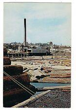 LOG STORAGE Logging Lumbering Pacific Northwest WASHINGTON Postcard WA KOPPEL