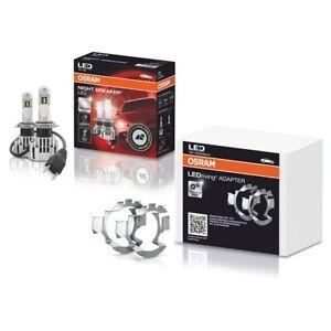 H7 OSRAM NIGHT BREAKER LED BULBS HEADLIGHT SCHEINWERFER und Adapter LEDriving