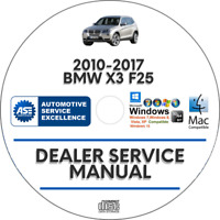 BMW X3 F25 2010-2017 Factory Service Repair Manual Body Shop + Wiring