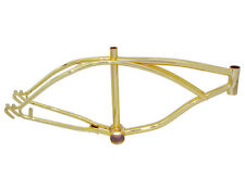 "Lowrider Bicycle Bike 20"" Beach Cruiser Chopper Frame In GOLD 157242"