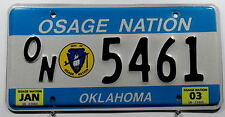 "USA Nummernschild Indianer ""OSAGE NATION"" Oklahoma. 9596."