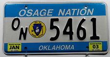 "USA Nummernschild Indianer ""OSAGE NATION"" Oklahoma. 9596."