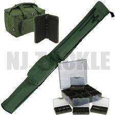 New Ngt Green Quickfish Carp Carryall Rod Holdall Rig Wallet & Tackle Box Set !!