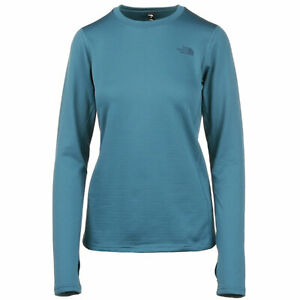 NWT WOMENS THE NORTH FACE POLY CREW $80 mallard blue poly crew base layer