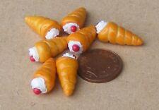 1:12 SCALA 7 Loose Ciliegia Crema Corna tumdee casa delle bambole Panificio Cibo Torte PL50