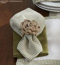 Mason Jar Napkin Set/2 Country Buttermilk Cedar Green Gingham Mini Check