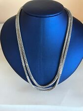10k White gold Chain 3 MM Franco Cut Box 39 Inches  very long & Heavy solid gold