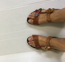 Spring Step L'artiste Tropic Artsy Sandals Wedge Heel Shoes 40 9 Leather