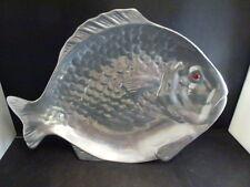 "1978  Arthur Court Fish w/ Red Carnelian Eye Plate/Tray - 14 ""  long"