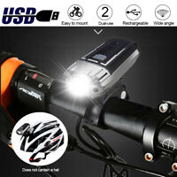 Bicycle Cycling LED Front Head Light USB Rechargeable Bicycle Light Helmet Lamp