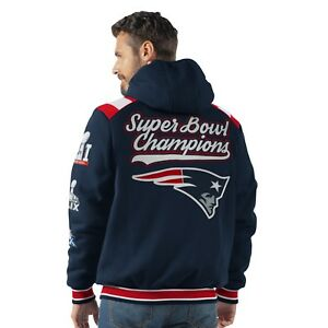 New England Patriots 5 Time Super Bowl Champions Hooded Bullpen Fleece Jacket